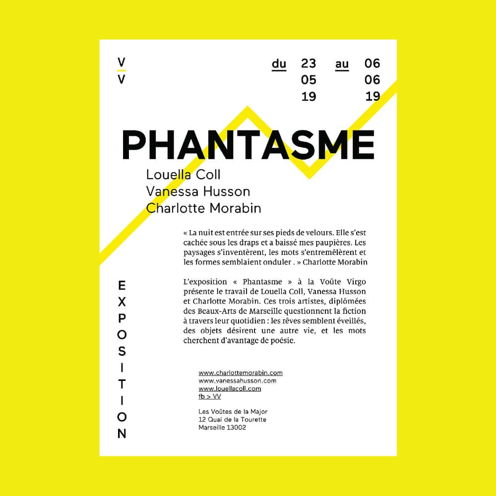 """L'exposition """"Phantasme"""" à la Voute Virgo présente le travail de Louella Coll, Vanessa Husson et Charlotte Morabin"""